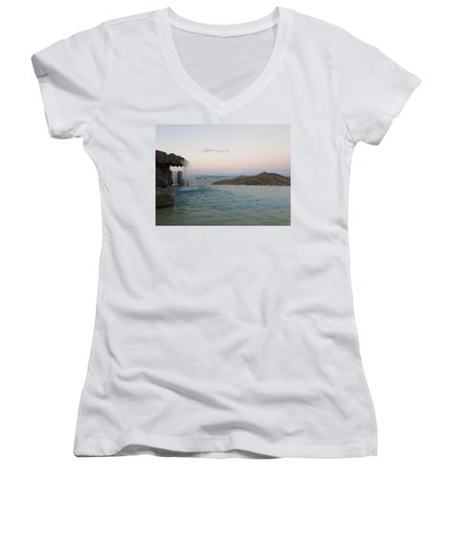 Evening Overlook Women's V-Neck (Athletic Fit)