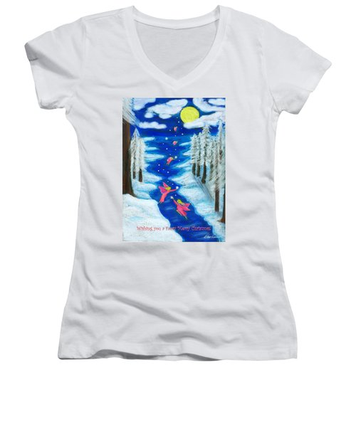 Faery Merry Christmas Women's V-Neck (Athletic Fit)
