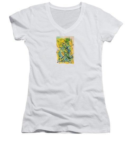 Fish Frenzy Women's V-Neck T-Shirt