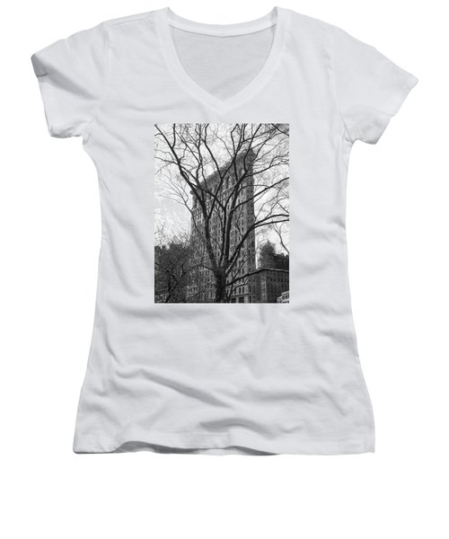 Flat Iron Tree Women's V-Neck (Athletic Fit)