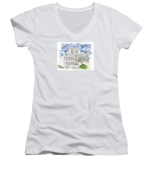 1 Front Street In Brooklyn Women's V-Neck T-Shirt (Junior Cut) by AFineLyne