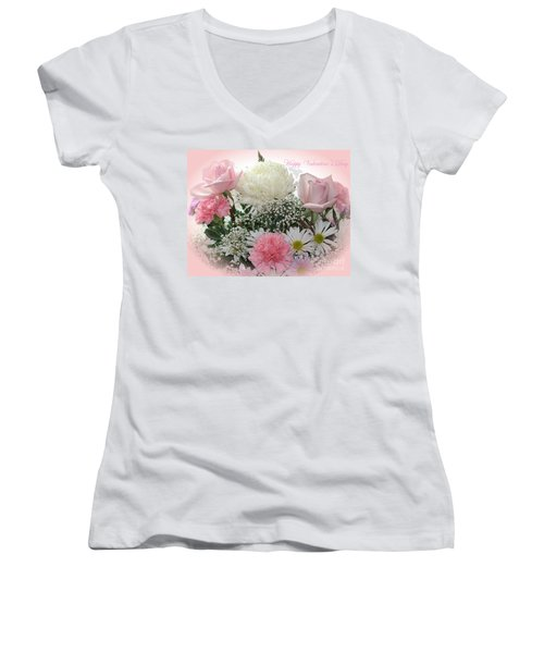 Happy Valentine's Day Women's V-Neck (Athletic Fit)