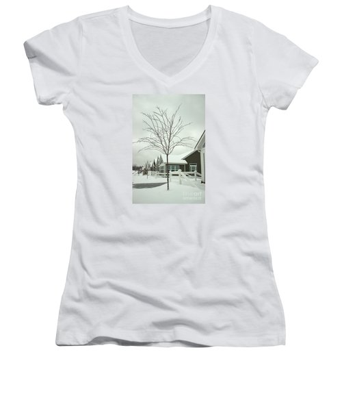 Hello Snow Women's V-Neck (Athletic Fit)