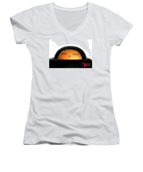 Women's V-Neck T-Shirt (Junior Cut) featuring the photograph Japanese Doll by Henrik Lehnerer