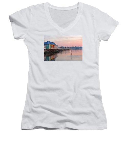 Morning Peace Women's V-Neck T-Shirt