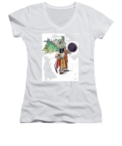 Pelusis God Of Law And Order Women's V-Neck