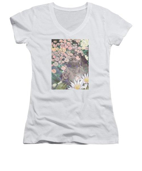 Reflections Women's V-Neck T-Shirt (Junior Cut) by Christopher Beikmann