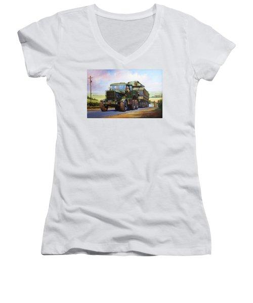 Scammell Explorer. Women's V-Neck T-Shirt