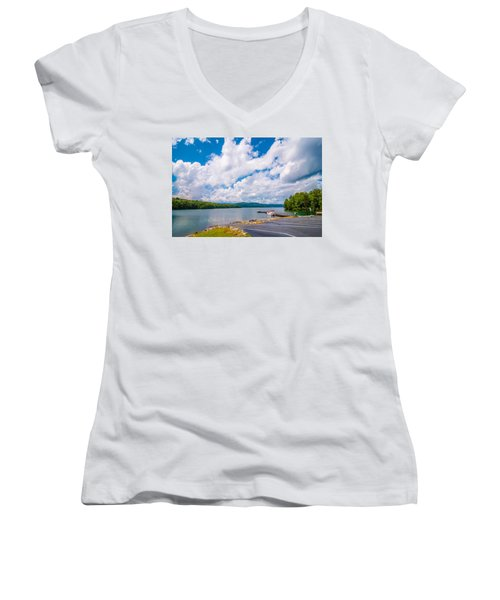 Scenery Around Lake Jocasse Gorge Women's V-Neck