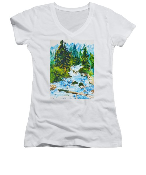 Spring Run-off Women's V-Neck (Athletic Fit)