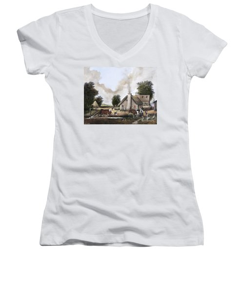 The Farmyard Women's V-Neck