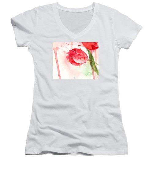 Tulip Flower Women's V-Neck T-Shirt