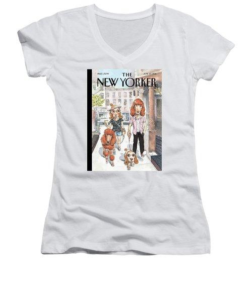 New Yorker June 27th, 2011 Women's V-Neck