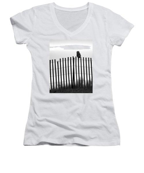 Waiting Owl Women's V-Neck T-Shirt