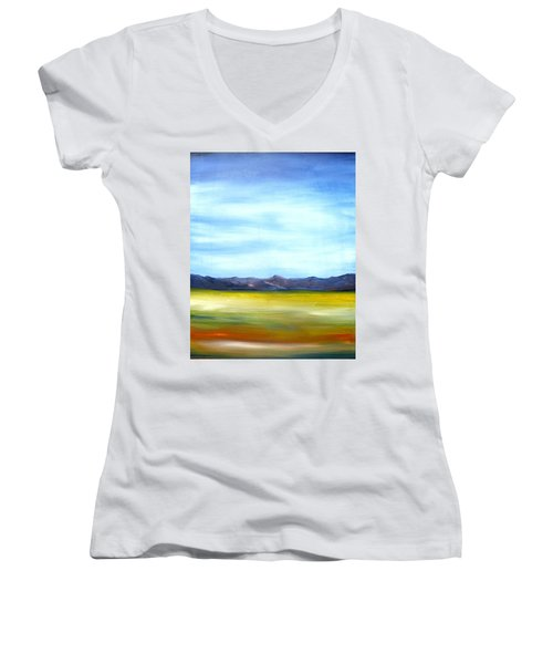 West Texas Landscape Women's V-Neck T-Shirt