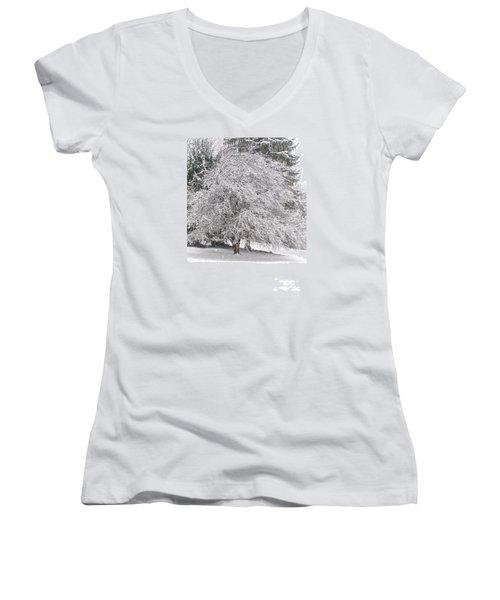 White As Snow Women's V-Neck T-Shirt