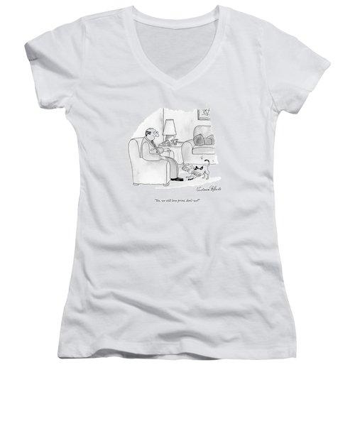 Yes, We Still Love Print, Don't We? Women's V-Neck