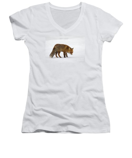 Women's V-Neck T-Shirt (Junior Cut) featuring the photograph 130201p051 by Arterra Picture Library
