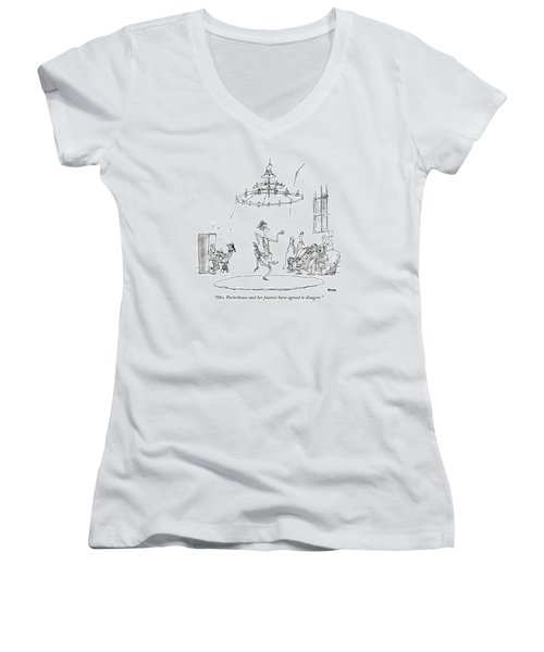 Mrs. Porterhouse And Her Pianist Have Agreed Women's V-Neck