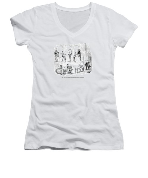 And This Is Our Department Of Experimental Women's V-Neck