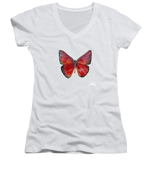 16 Mesene Rubella Butterfly Women's V-Neck