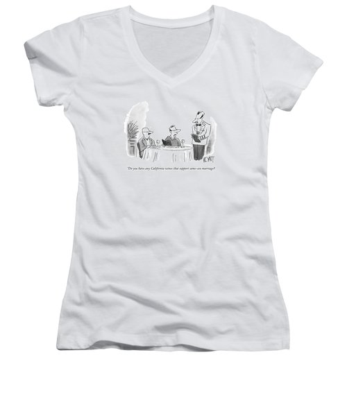 Do You Have Any California Wines That Support Women's V-Neck