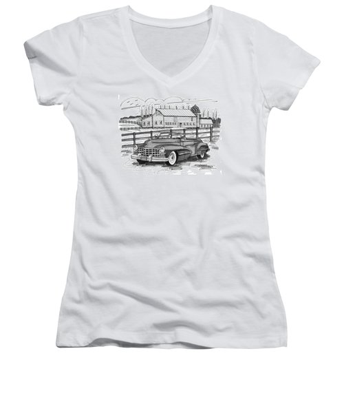 1947 Cadillac Model 52 Women's V-Neck