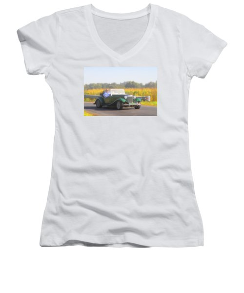 1953 Mg Td Women's V-Neck (Athletic Fit)