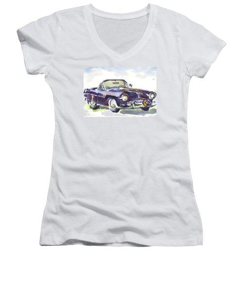 1955 Thunderbird Women's V-Neck T-Shirt