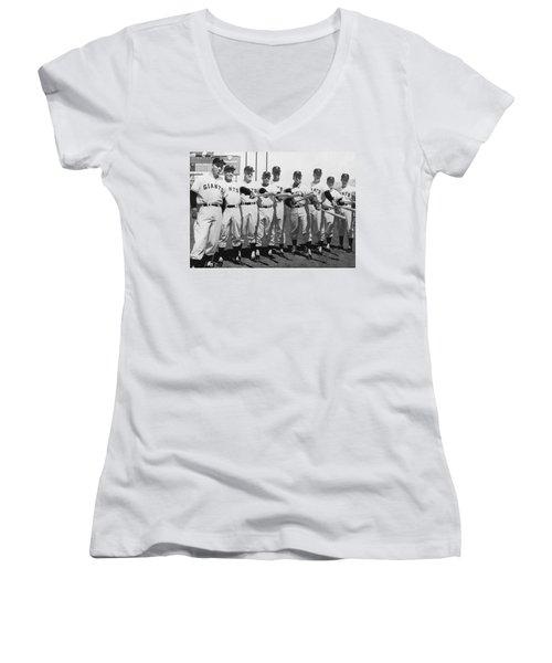 1961 San Francisco Giants Women's V-Neck