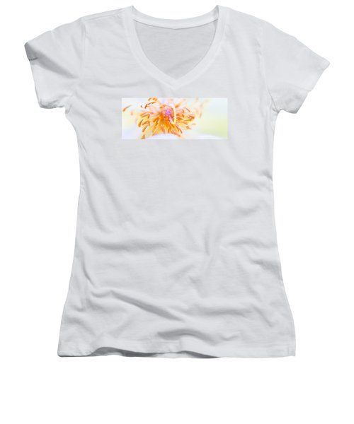 Abstract Flower Women's V-Neck T-Shirt (Junior Cut) by Ulrich Schade