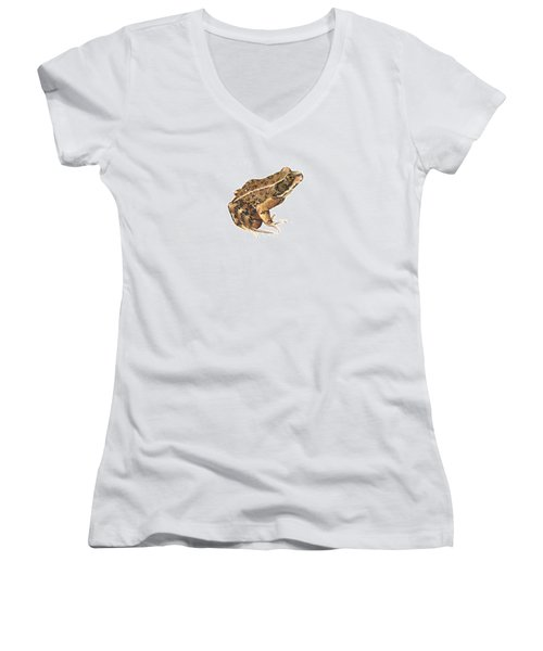 California Red-legged Frog Women's V-Neck T-Shirt
