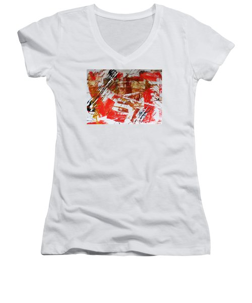 Comission 23 Uplifting Behaviour Women's V-Neck T-Shirt (Junior Cut) by Sir Josef - Social Critic -  Maha Art