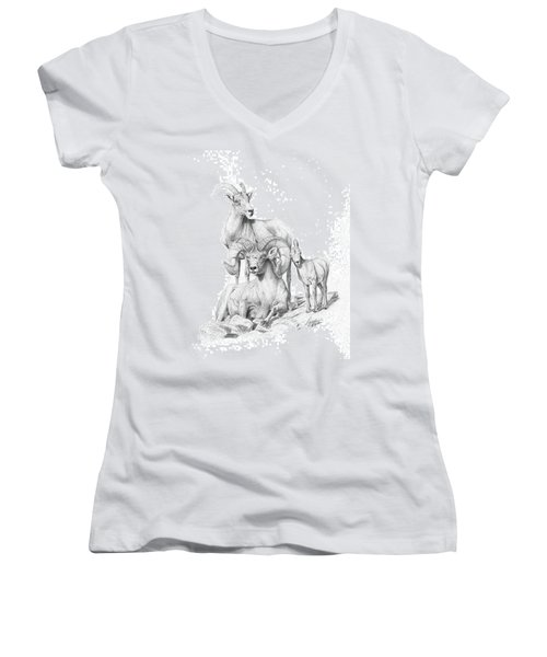 Desert Bighorns Women's V-Neck T-Shirt