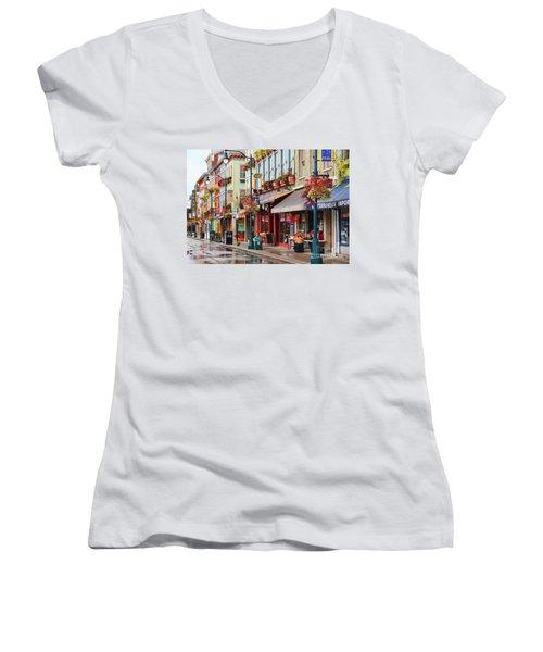 Findlay Market In Cincinnati 0009 Women's V-Neck T-Shirt