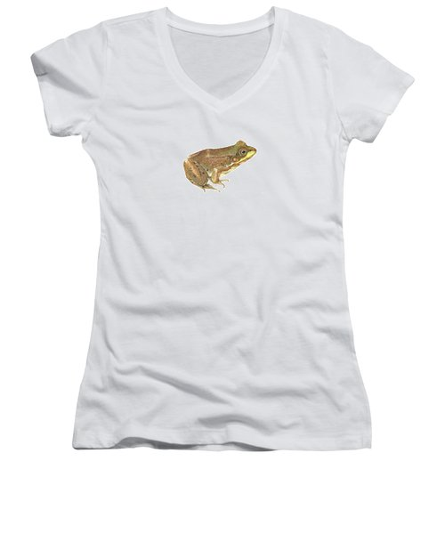Green Frog Women's V-Neck T-Shirt