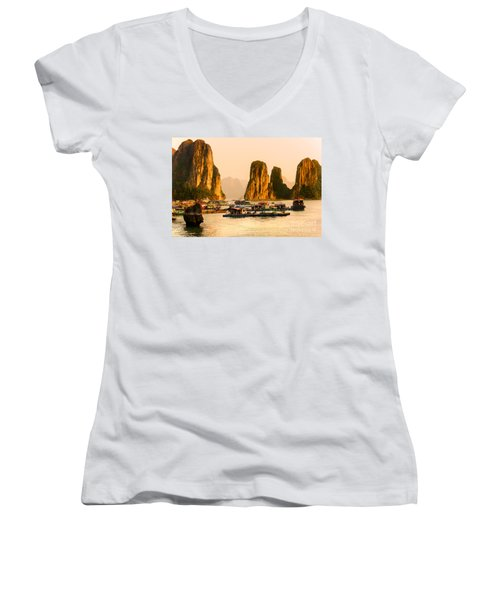 Halong Bay - Vietnam Women's V-Neck T-Shirt