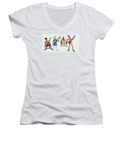 Sixties And Seventies Musicians Women's V-Neck