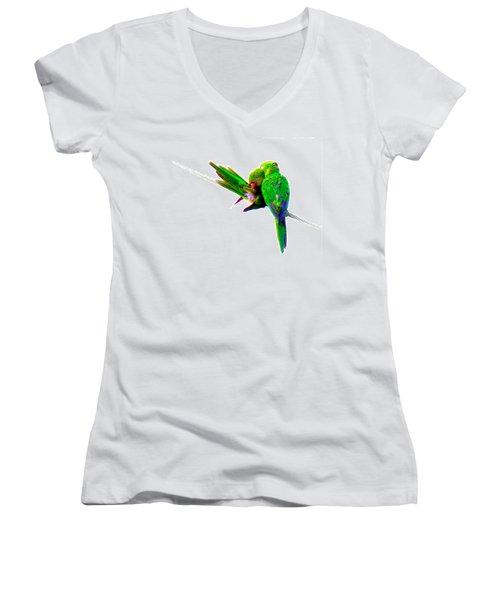 Love Birds Women's V-Neck (Athletic Fit)