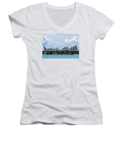 Miami Skyline Women's V-Neck