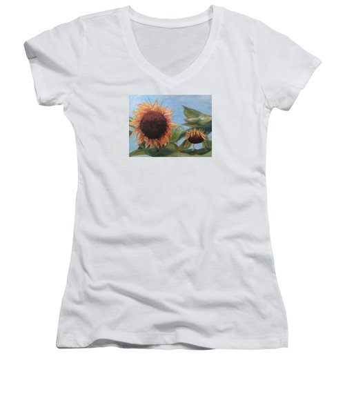 My Sunflowers Women's V-Neck (Athletic Fit)