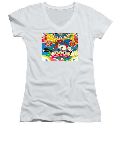 Native Pinball Women's V-Neck T-Shirt