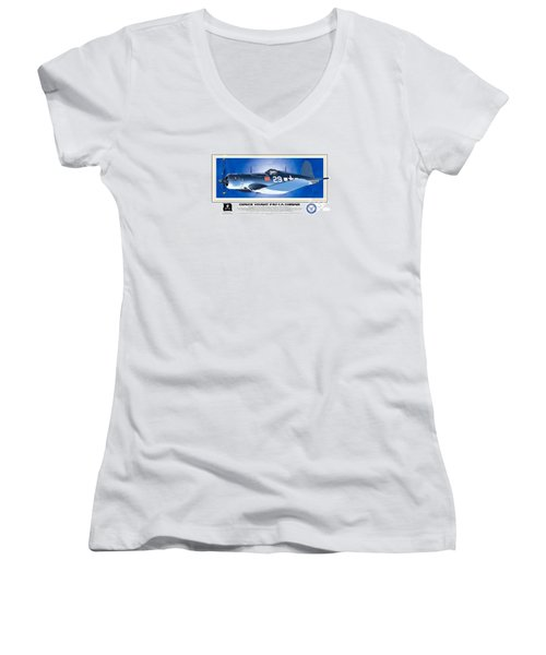Navy Corsair 29 Women's V-Neck (Athletic Fit)