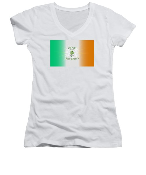 Proud Of My Irish Roots Women's V-Neck (Athletic Fit)