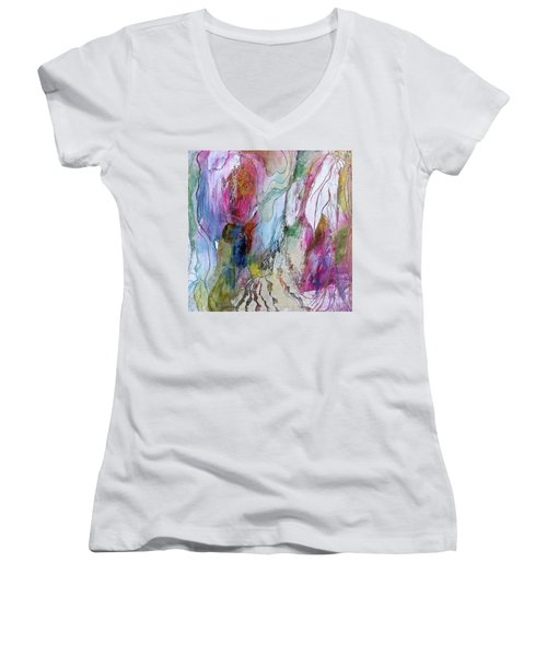Under The Ice Of Venus Women's V-Neck