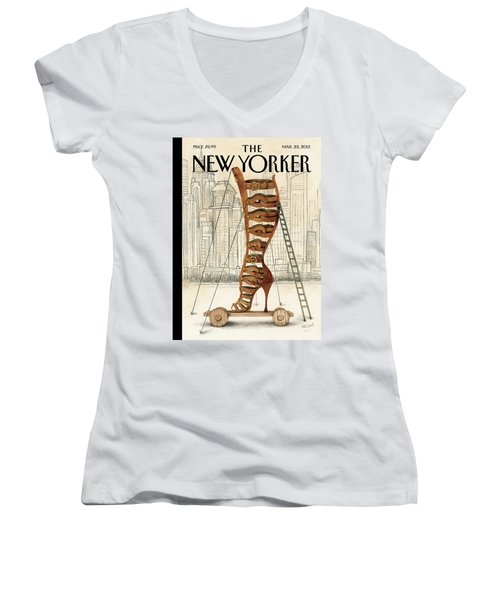 New Yorker March 25th, 2013 Women's V-Neck