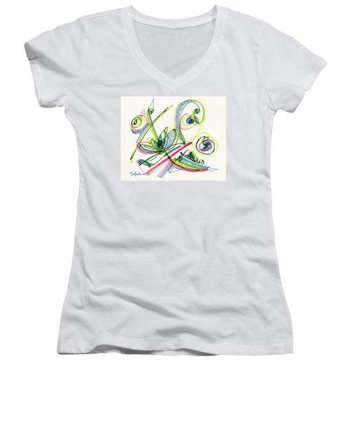 2012 Drawing #36 Women's V-Neck T-Shirt