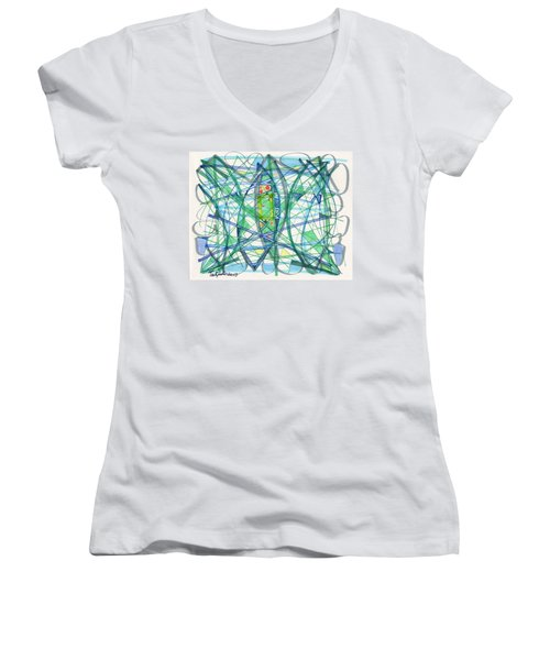 2013 Abstract Drawing #23 Women's V-Neck (Athletic Fit)