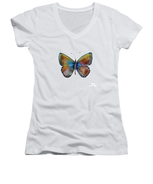 22 Clue Butterfly Women's V-Neck