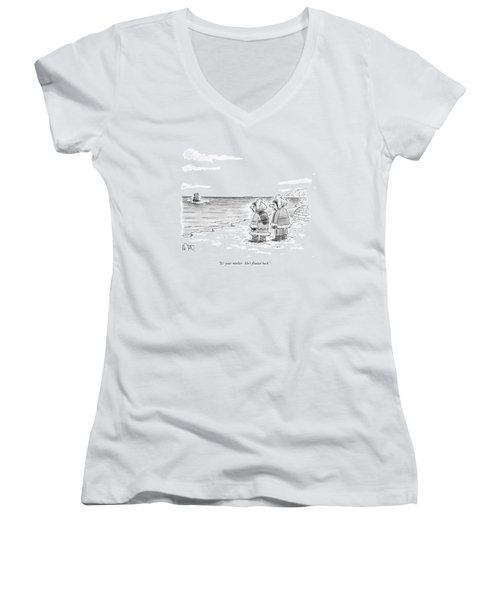 It's Your Mother.  She's Floated Back Women's V-Neck